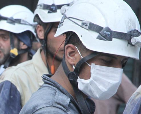 cascos blancos siria