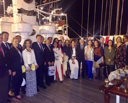 Presentes en la Recepcion del Buque Escuela Velero Cuauhtemoc de la Armada de México